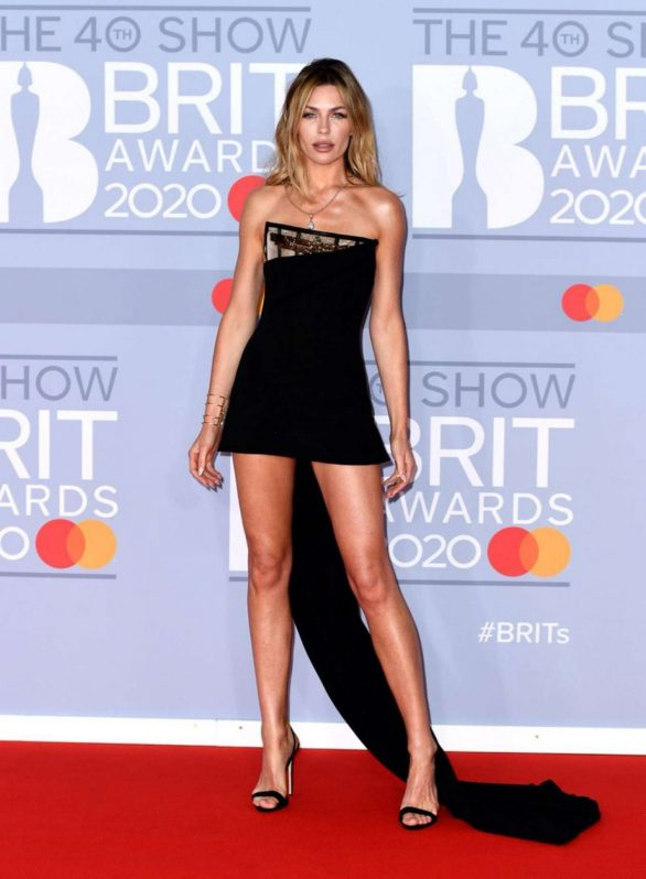 Abbey Clancy - Red carpet on BRIT Awards 2020 in London