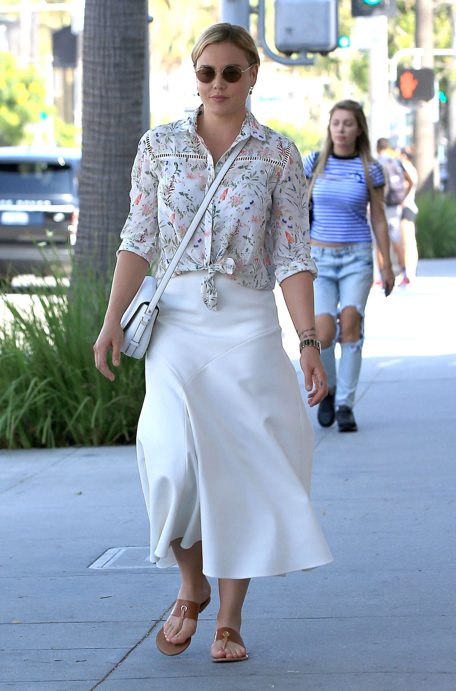 Abbie Cornish in Long Skirt out in Beverly Hills