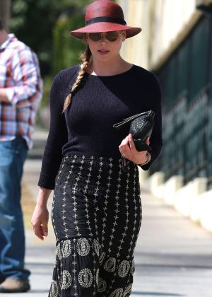 Abbie Cornish in Long Skirt out in West Hollywood