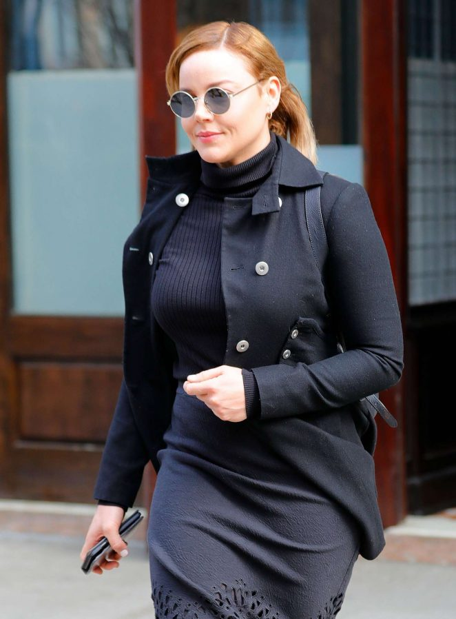 Abbie Cornish Leaves her hotel in New York