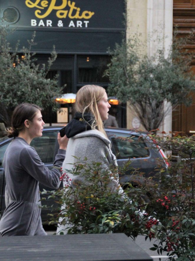 Abby Champion and Cambrie Schroder - Out and about in Paris