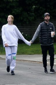 Abby Champion and Patrick Schwarzenegger - Enjoy a walk in Brentwood