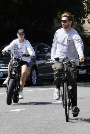 Abby Champion and Patrick Schwarzenegger - Goes cycling together in Santa Monica
