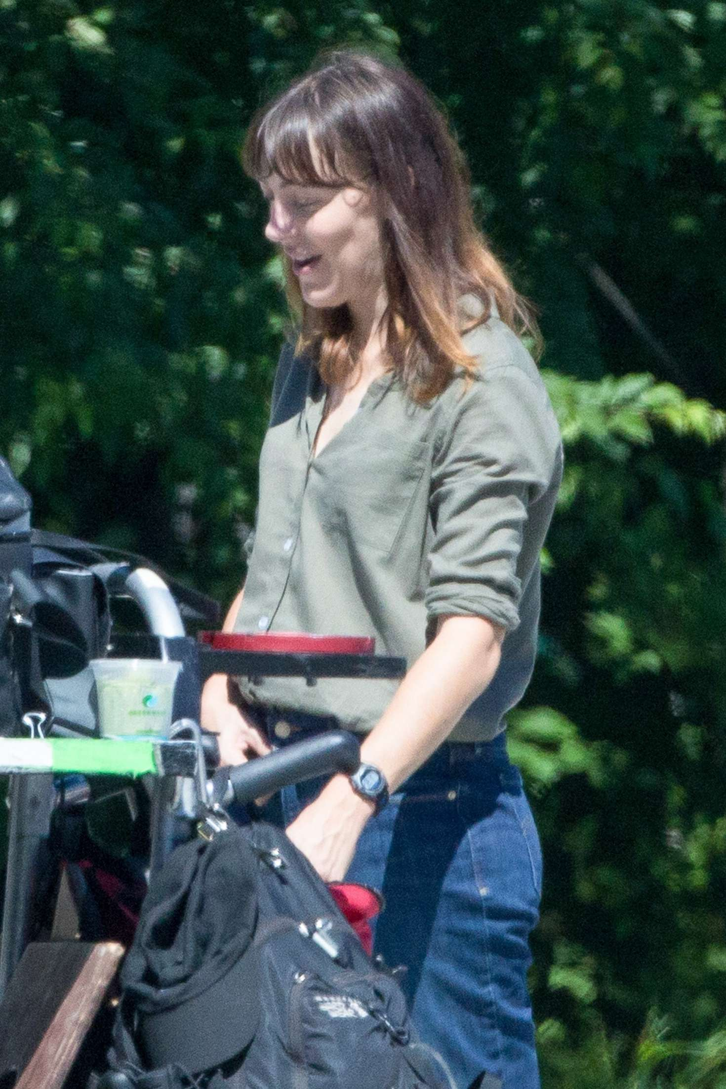 Abby Miller - Filming TV Series 'The Sinner' in NYC