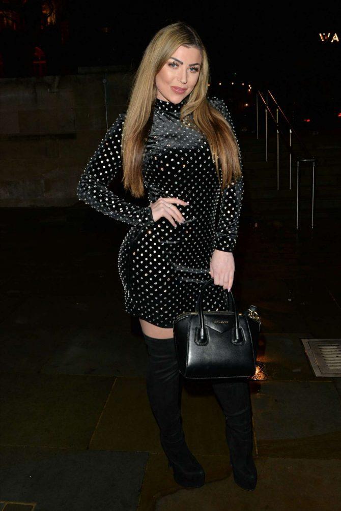 Abi Clarke in Mini Dress at STK Restaurant in London