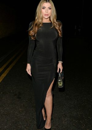 Abi Clarke - Night out at Sheesh in Essex