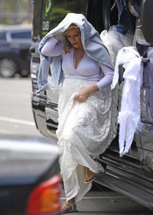 Abi Titmuss wearing her wedding dress in Malibu