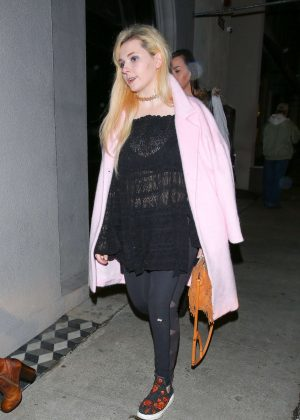 Abigail Breslin at Craigs For Dinner in West Hollywood