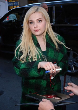 Abigail Breslin at Today Show Studios in NYC
