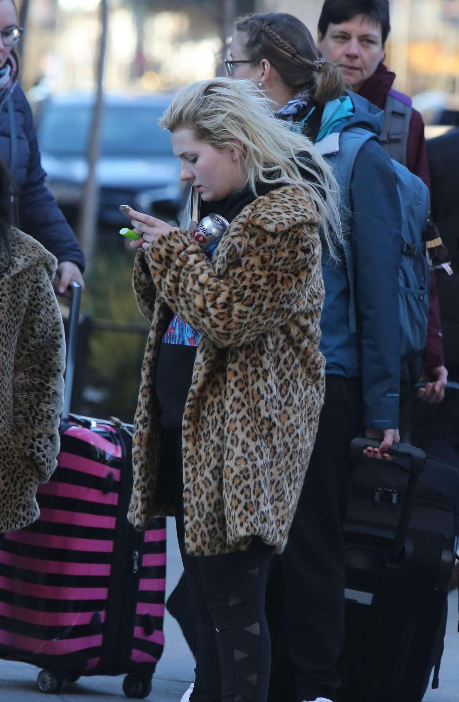 Abigail Breslin 2017 : Abigail Breslin in Fur Coat out in NYC -06