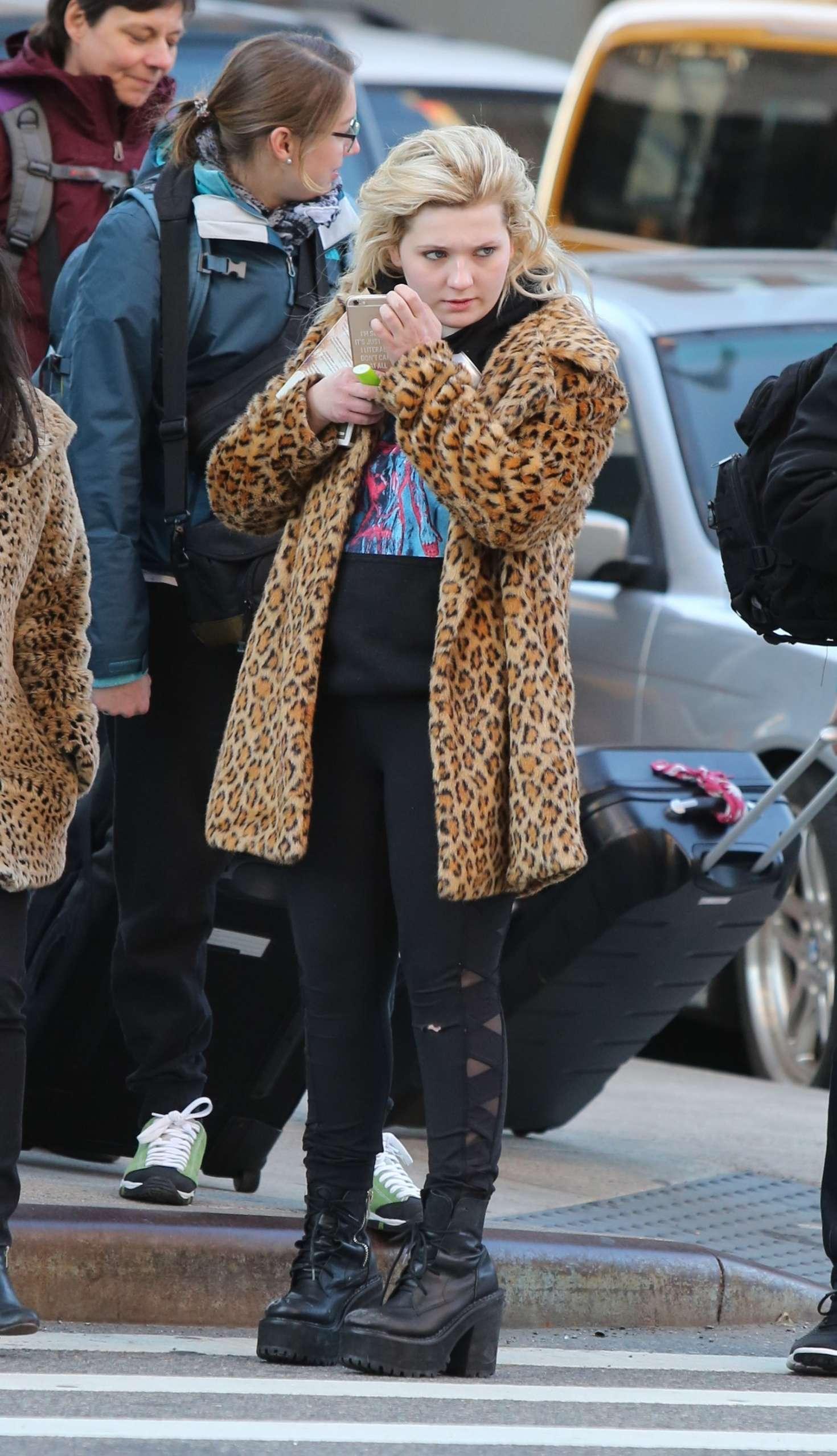 Abigail Breslin 2017 : Abigail Breslin in Fur Coat out in NYC -09