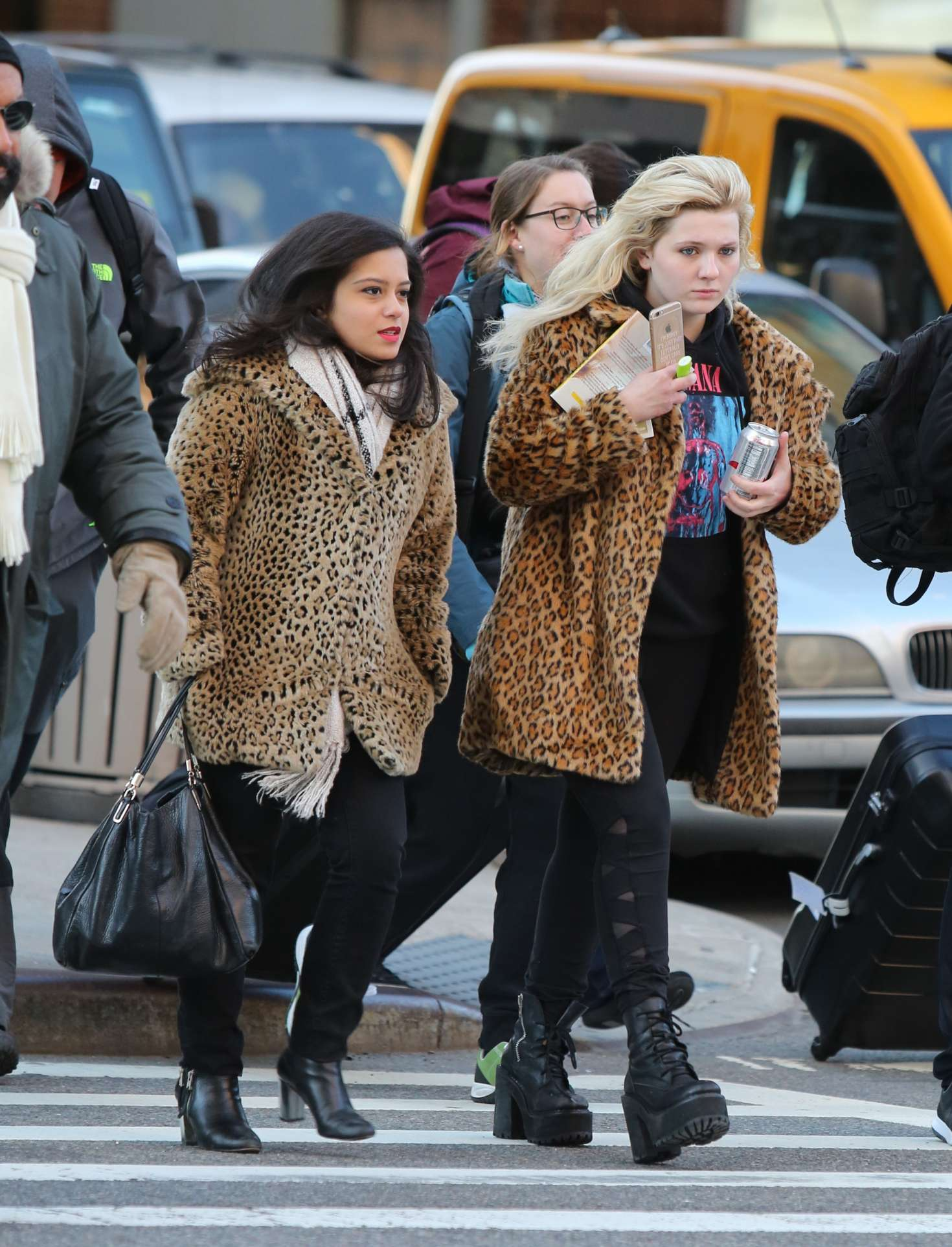 Abigail Breslin 2017 : Abigail Breslin in Fur Coat out in NYC -12