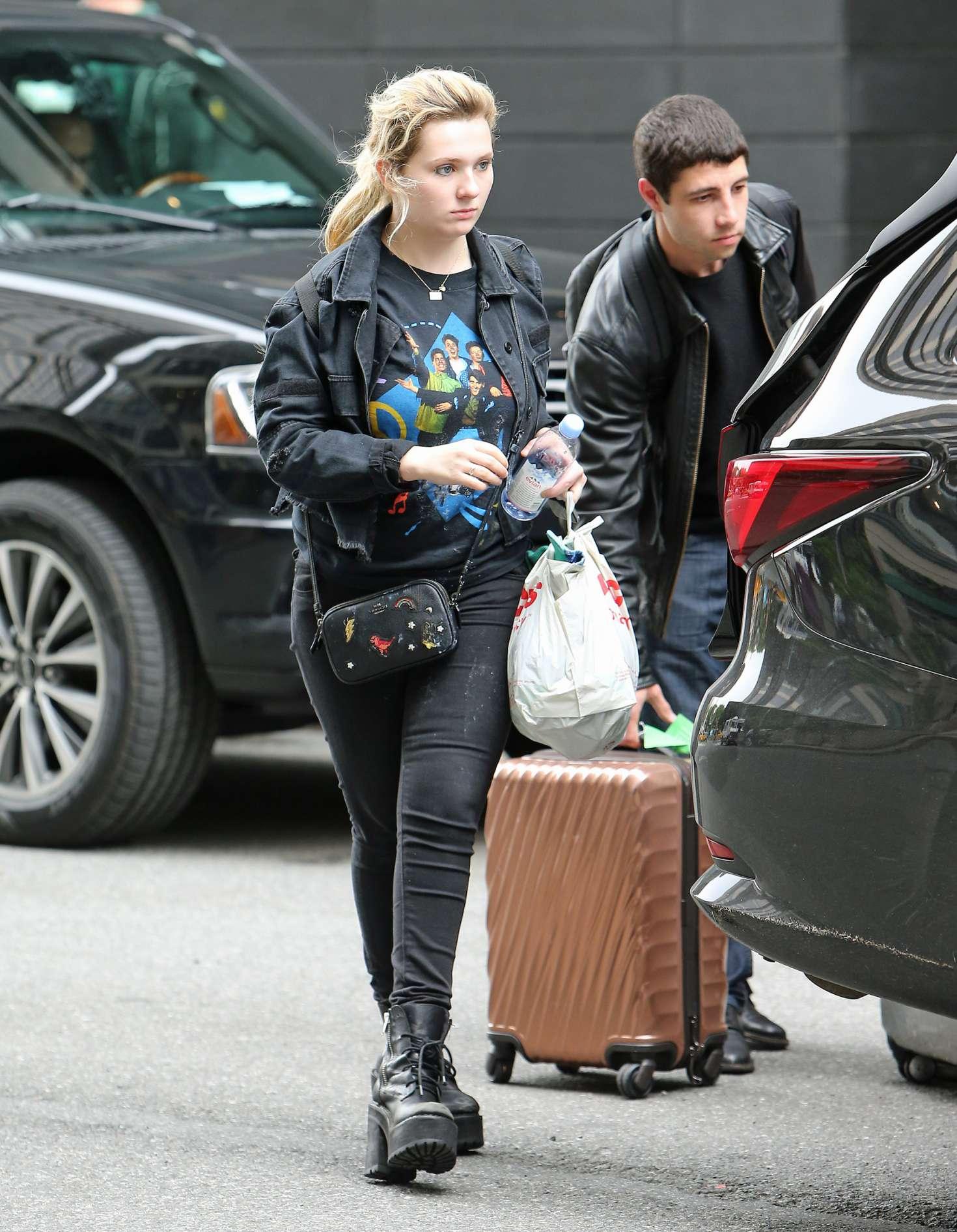 Abigail Breslin leaves her hotel in New York City