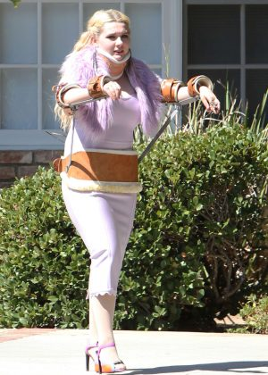 Abigail Breslin on the set of 'Scream Queens' in Los Angeles
