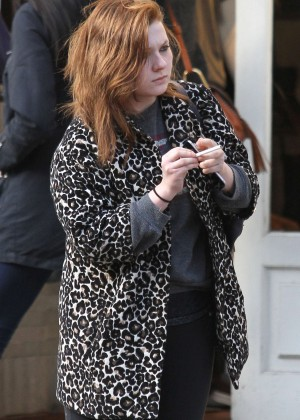 Abigail Breslin out in New York City