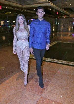 Abigail Clarke and Junaid Ahmed out in Las Vegas