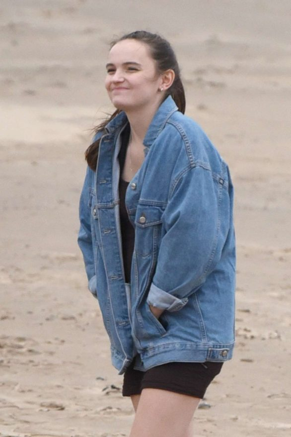 Abigail Lawrie - Filming on a wet and cold beach in Wallasey