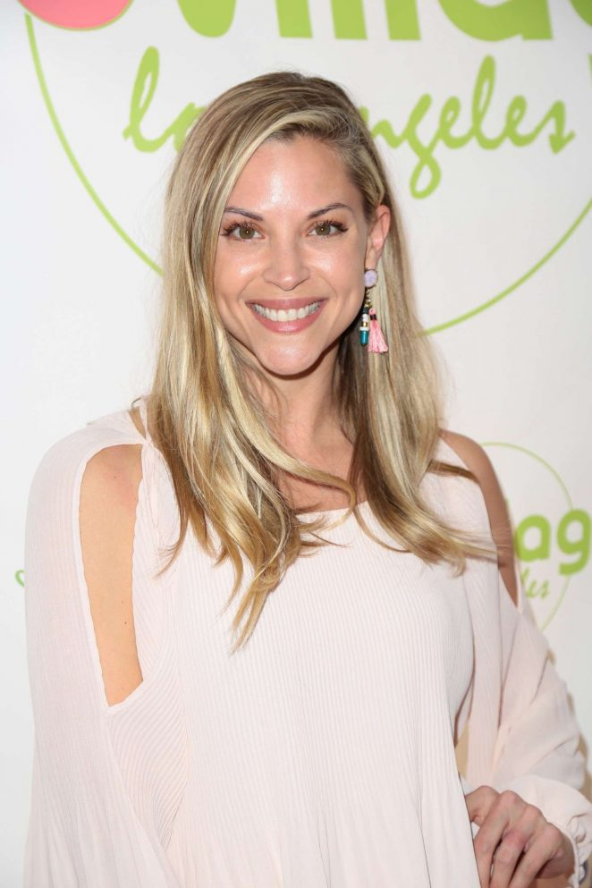 Abigail Ochse at the grand opening party for WeVillage in LA