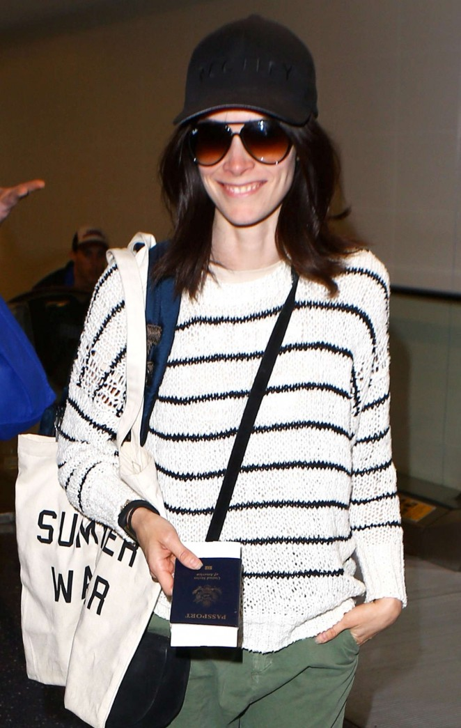 Abigail Spencer at LAX airport in Los Angeles