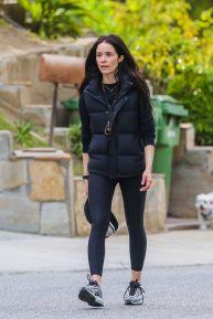 Abigail Spencer - Goes for a walk with a friend around Studio City
