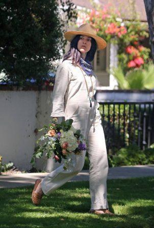 Abigail Spencer - Outside her home in Studio City