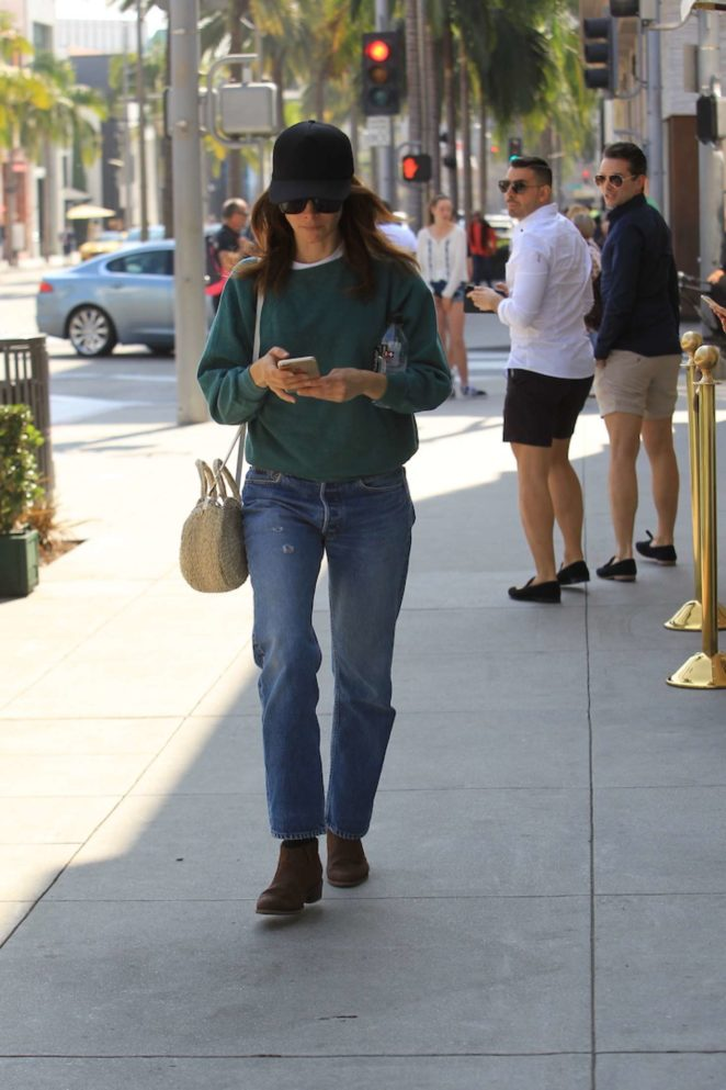 Abigail Spencer shopping on Rodeo Drive in Beverly Hills