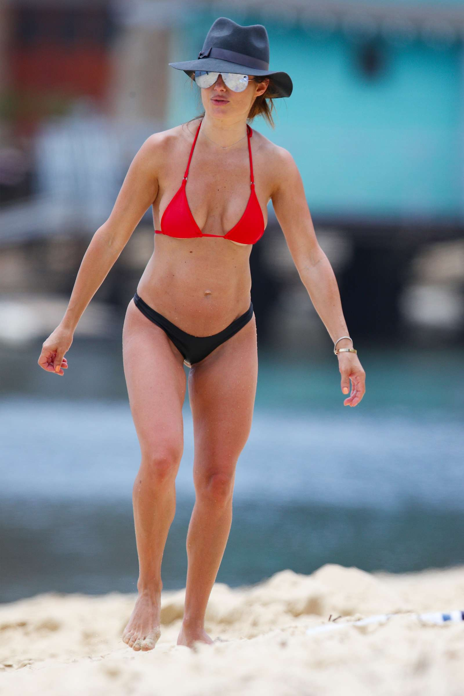 Ada Nicodemou 2019 : Ada Nicodemou in Black and Red Bikini 2019 -05
