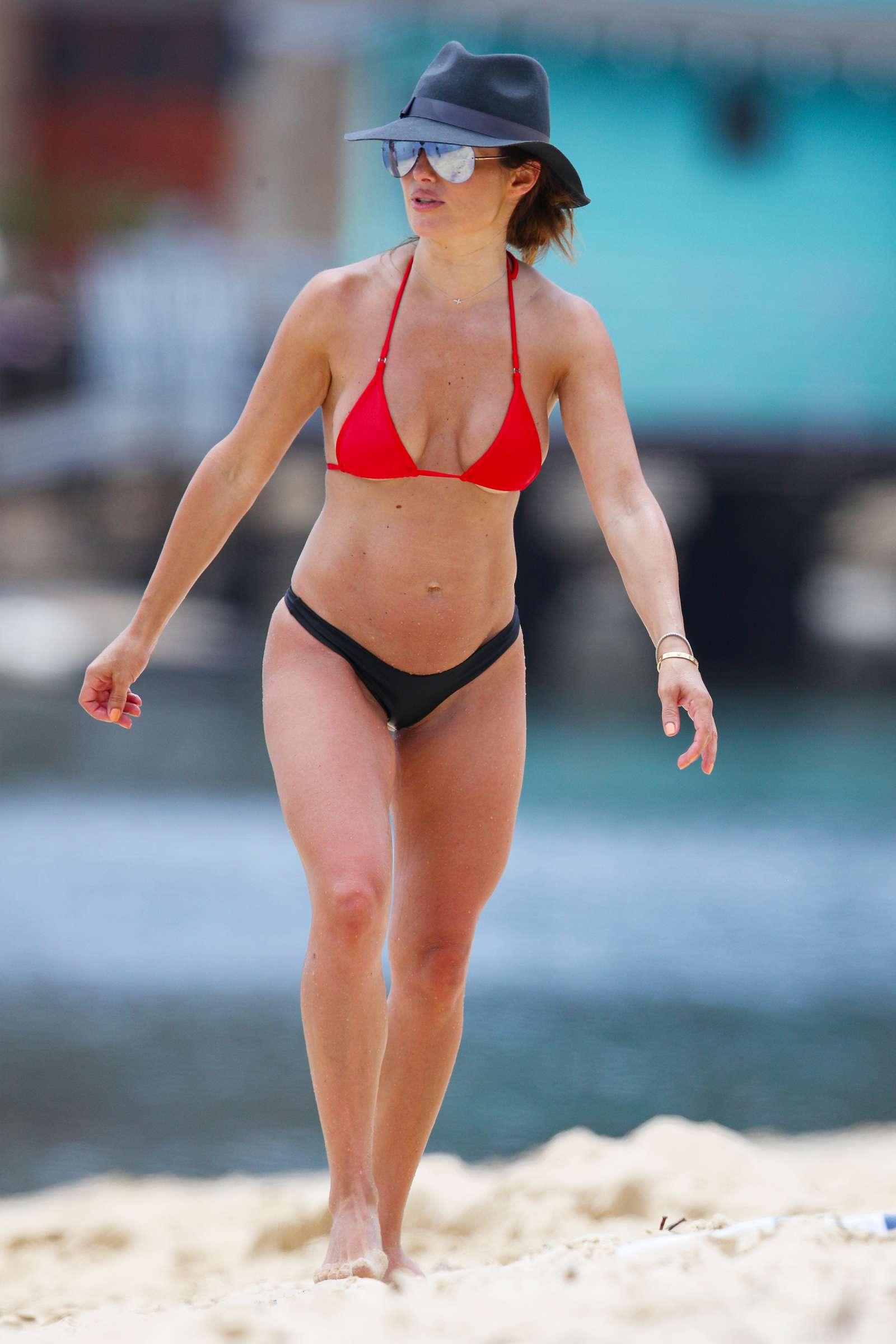 Ada Nicodemou 2019 : Ada Nicodemou in Black and Red Bikini 2019 -09