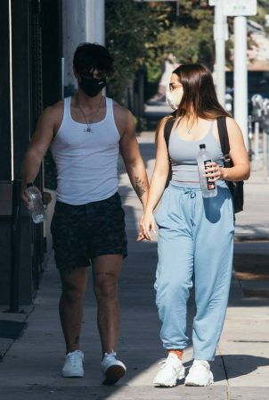 Addison Rae and Bryce Hall - Seen on Thanksgiving at The Gym in West Hollywood