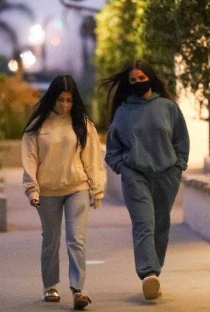 Addison Rae and Kourtney Kardashian - Night out at taverna tony in Malibu