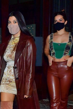 Addison Rae and Kourtney Kardashian - Night out for a girls night in New York City