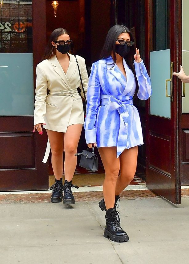 Addison Rae and Kourtney Kardashian - Out in downtown Manhattan