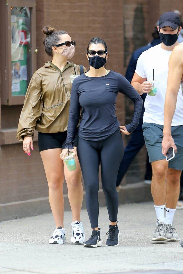 Addison Rae and Kourtney Kardashian - Workout candids in West Village