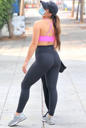 Addison Rae - Heaving a private workout in West Hollywood