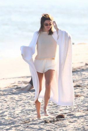 Addison Rae, Kendall Jenner and Kourtney Kardashian - Photoshoot on the beach in Malibu