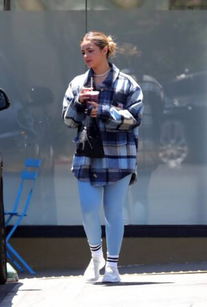 Addison Rae - Seen after a pilates workout in West Hollywood
