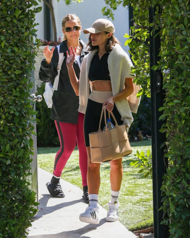 Addison Rae - With Olivia Culpo headed to Forma Pilates ahead of her daily workout