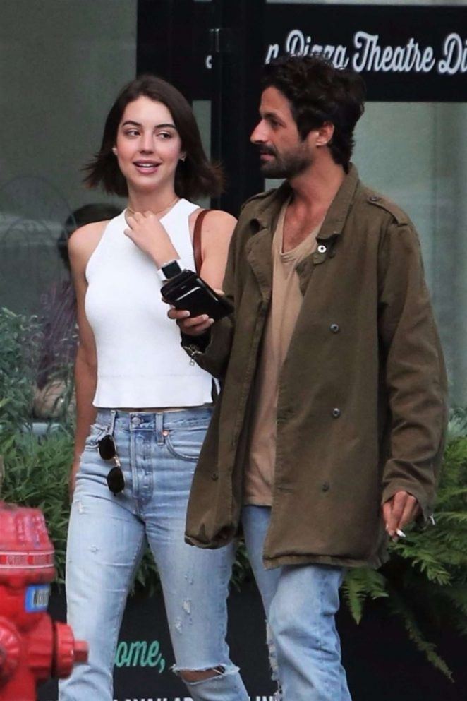 Adelaide Kane Leaving dinner with her boyfriend in Vancouver