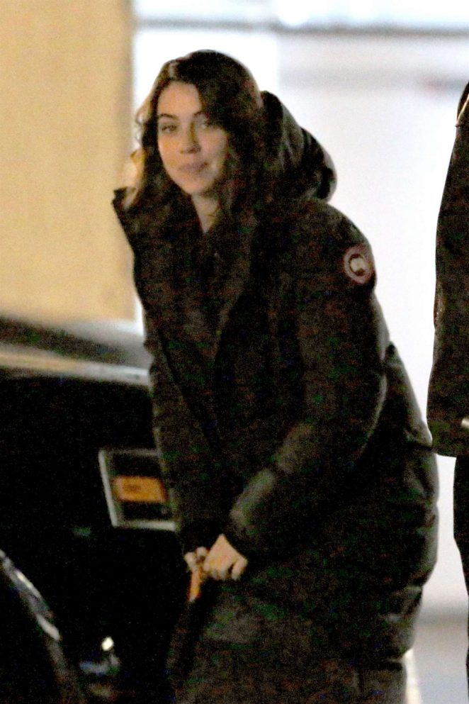Adelaide Kane - On set of 'Once Upon A Time' in Vancouver