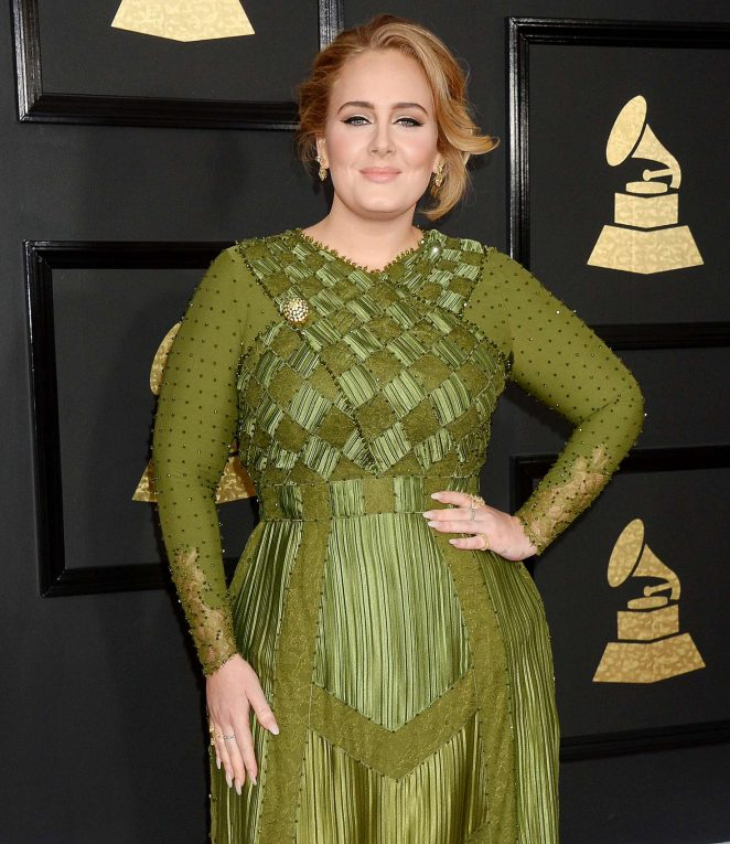 Adele - 59th GRAMMY Awards in Los Angele