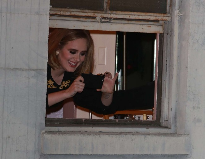 Adele at Wiltern hotel in Los Angeles