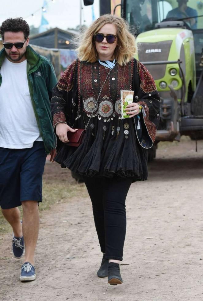 Adele - Day 1 of the Glastonbury Festival in Glastonbury