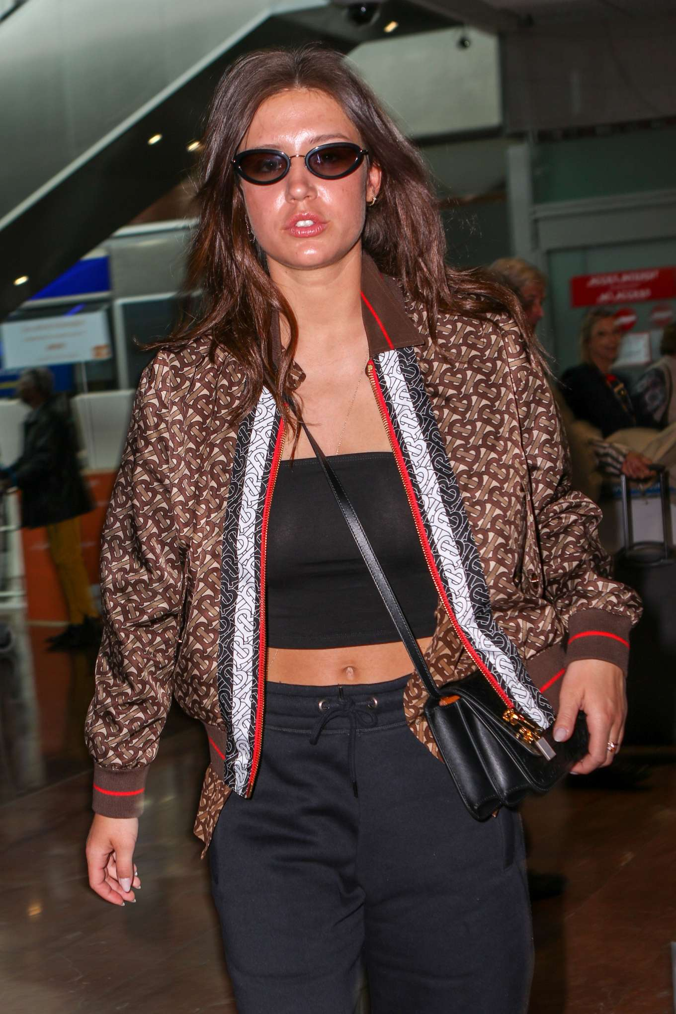 Adele Exarchopoulos - Arrives at Nice Airport in France