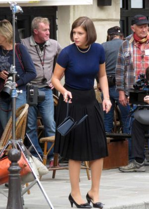 Adele Exarchopoulos on the set of new film 'The White Crow' in Paris