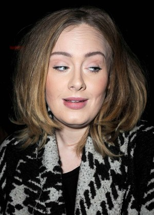 Adele - Leaves her Tribeca Hotel in New York