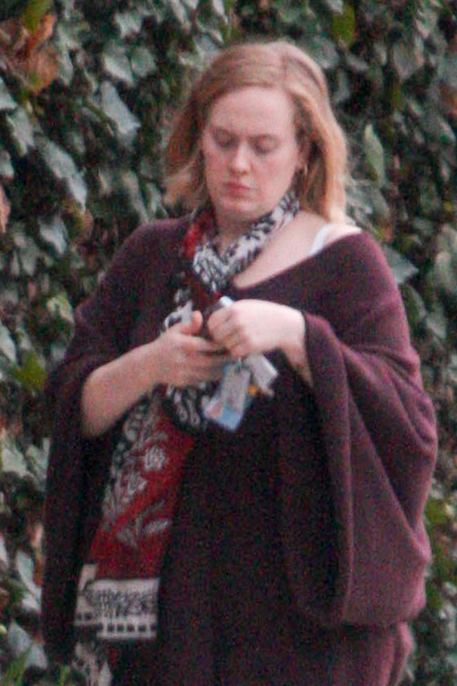 Adele out and about in Los Angeles