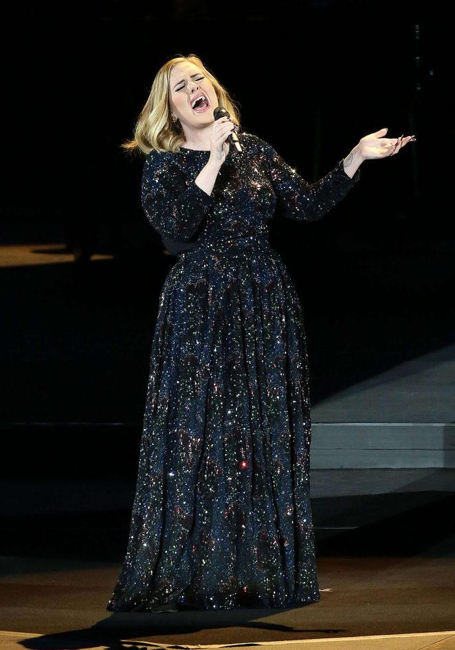 Adele - Performing live at Arena di Verona in Italy