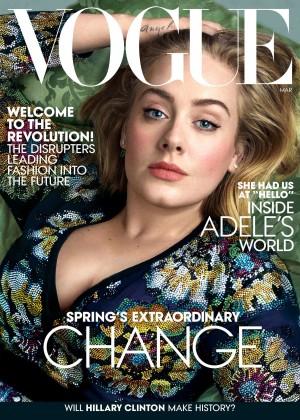 Adele - Vogue Magazine (March 2016)