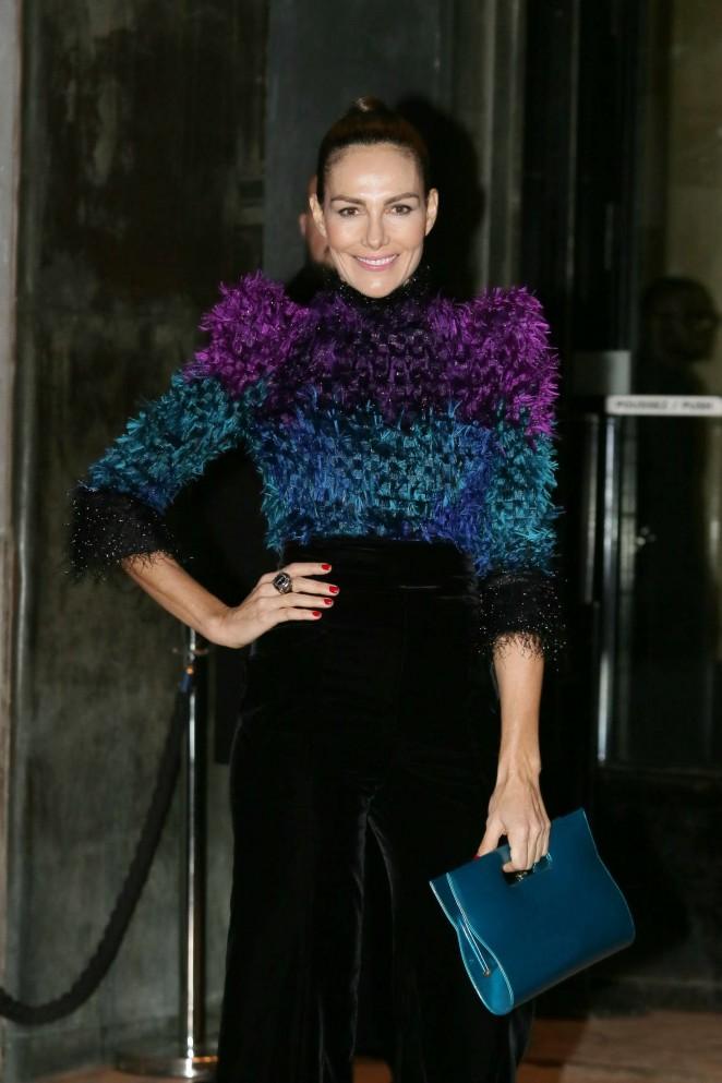Adriana Abascal Arrivals at Giorgio Armani Fashion Show Spring Summer 2016 in Paris