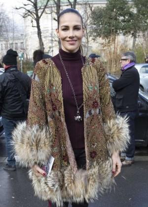 Adriana Abascal - Arriving the Giambattista Valli Fashion Show 2016 in Paris